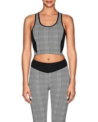 Sàpopa - terry Houndstooth Crop Top - Lyst