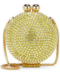 Marzook Crystal Ball Minaudière - Yellow