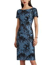 Zac Posen Floral Jacquard Dress - Blue