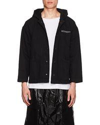 RTA - darkside Embroidered Denim Coach's Jacket - Lyst