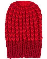 Wommelsdorff Bella Striped Chunky Wool Beanie