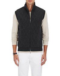 Barneys New York - Diamond-pattern Reversible Cashmere Vest - Lyst