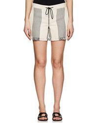 Derek Lam - Cotton-blend Basket-weave Shorts - Black - Lyst
