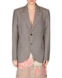 Maison Margiela - Checked Wool-blend Two-button Blazer - Lyst