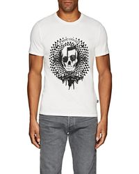 Just Cavalli - Skull-print Cotton T-shirt - Lyst