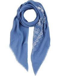 Barneys New York - Floral-embroidered Scarf - Lyst