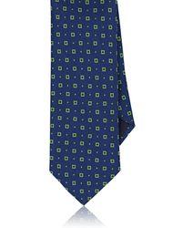 Barneys New York - Square-pattern Silk Necktie - Lyst