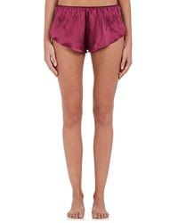 Gilda & Pearl - Bloomsbury Lace-trimmed Silk Shorts - Lyst