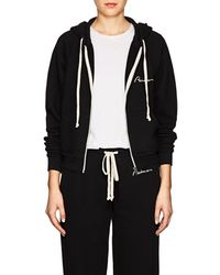 RE/DONE Embroidered Cotton Terry Hoodie - Black
