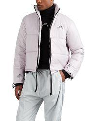 A_COLD_WALL* Logo Crop Puffer Jacket - Gray