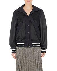 Maison Margiela - Faux-leather-sleeve Varsity Jacket - Lyst