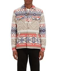 Faherty Brand - Folkloric Padded Brushed Cotton Shirt Jacket - Lyst