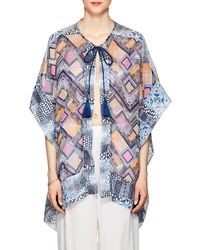 OndadeMar - Fressia Mixed-print Voile Cover-up - Lyst