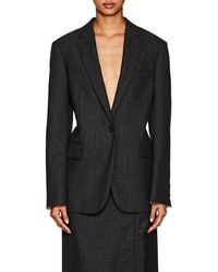 CALVIN KLEIN 205W39NYC Checked Worsted Wool Blazer - Gray