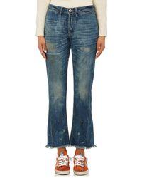 NSF - Aero Distressed Crop Flared Jeans - Lyst