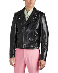 CALVIN KLEIN 205W39NYC stephen Sprouse Leather Moto Jacket - Black
