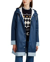 Stutterheim Mosebacke Colorblocked Cotton-blend Raincoat - Blue