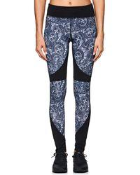 CORY VINES APPAREL Lane Abstract-print Microfiber Leggings - Blue