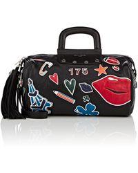 Sonia Rykiel Leather Gym Bag - Black