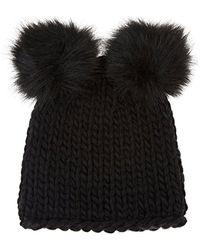 Barneys New York - Wool-blend Double Pom-pom Hat - Lyst