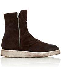 Barneys New York Double-zip Suede Boots - Brown