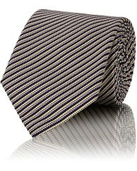 Boglioli - Striped Silk-cotton Necktie - Lyst