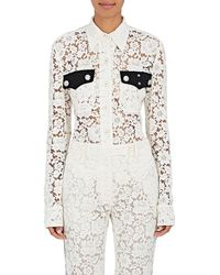 CALVIN KLEIN 205W39NYC - Lace Collared Blouse - Lyst
