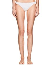 Kisuii Smocked Bikini Bottom - White