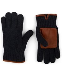 Barneys New York Faux-fur-lined Wool Gloves - Blue