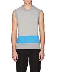 Tomas Maier Cotton Fleece Sweatshirt Vest - Metallic