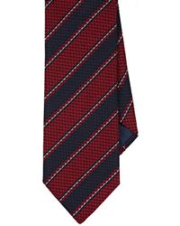 Barneys New York - Textured-striped Silk-cotton Jacquard Necktie - Lyst