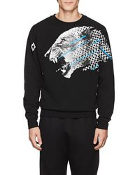 Marcelo Burlon Cat-print Cotton Sweatshirt - Black
