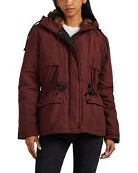 Barneys New York Faux-fur-trimmed Hooded Coat - Red