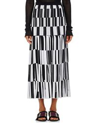 Proenza Schouler - Jacquard Knife-pleated Long Skirt - Lyst