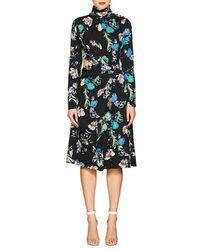 Prabal Gurung - Floral Crepe Cutout Dress - Lyst