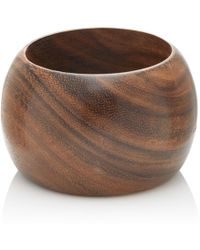 Kenneth Jay Lane - Wooden Wide Domed Bangle - Lyst