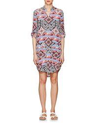 L'Agence Amanda Paisley & Floral Silk Dress - White