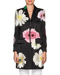 Thom Browne   Embroidered Silk Overcoat   Lyst