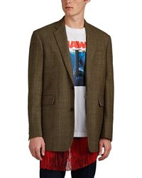 CALVIN KLEIN 205W39NYC Overchecked Houndstooth-weave Wool Sportcoat - Multicolour