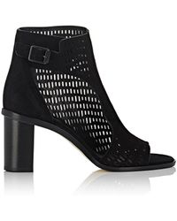 Zero + Maria Cornejo - Fern Perforated Suede Ankle Boots - Lyst