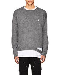 Stampd - Shaun Distressed Alpaca-blend Sweater - Lyst