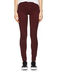 J Brand - Super Skinny Sateen Mid-rise Jeans - Lyst