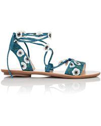 Loeffler Randall - Fleura Ankle-wrap Sandals - Lyst