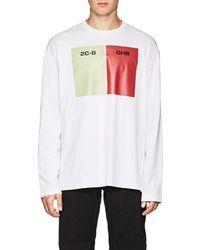 Raf Simons - Long-sleeve Cotton Jersey T-shirt - Lyst