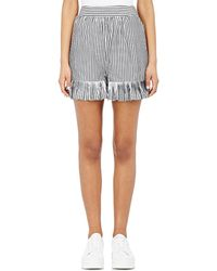 Teija - Striped Cotton Poplin Shorts - Lyst