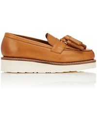 Grenson - Clara Leather Wedge Loafers - Lyst