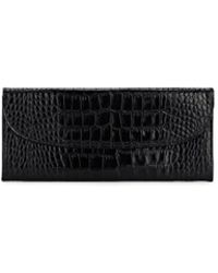Barneys New York - Crocodile-stamped Leather Travel Wallet - Lyst