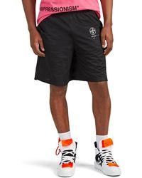 Off-White c/o Virgil Abloh Logo Mesh Shorts - Black
