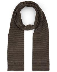 Barneys New York Striped Merino Wool Scarf - Multicolour