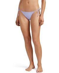 Kisuii Ruffled Side-tie Bikini Bottom - Purple